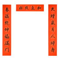 2019手写新春书法对联 - 天增岁月B