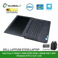 (Refurbished Notebook) Dell Latitude E7250 Laptop / 12.5 inch LCD / Intel Core i7-5600U / 8GB Ram / 128GB SSD / WiFi / Windows 8 Pro