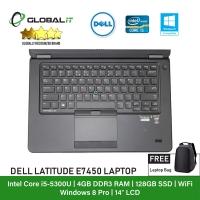 (Refurbished Notebook) Dell Latitude E7450 Laptop / 14 inch LCD / Intel Core i5-5300U / 4GB Ram / 128GB SSD / WiFi / Windows 8 Pro