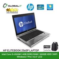 (Refurbished Notebook) HP Elitebook 2560P Laptop / 12.5 inch LCD / Intel Core i5-2520M / 4GB Ram / 320GB HDD / WiFi / Windows 7