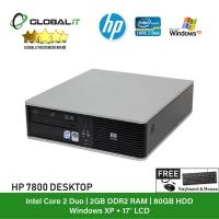 (Refurbished Desktop) HP Compaq 7800 SFF / Intel Core 2 Duo / 2GB Ram / 80GB HDD / DVD Rom / Windows XP + 17 inch LCD Monitor / Special Offer