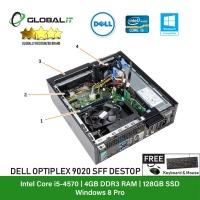 (Refurbished Desktop) Dell Optiplex 9020 SFF / Intel i5-4570 / 128GB SSD / 4GB Ram / DVD Writer / Windows 8