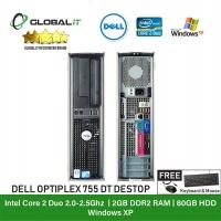 (Refurbished Desktop) Dell Optiplex 755 Desktop / Intel Core 2 Duo / 80GB Hard Disk / 2GB Ram / DVD Writer / Windows XP