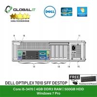 (Refurbished Desktop) Dell Optiplex 7010 SFF / Intel i5-3470 / 500GB Hard Disk / 4GB Ram / DVD Writer / Windows 7