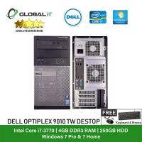 (Refurbished Desktop) Dell Optiplex 9010 Tower / Intel i7-3770 / 250GB Hard Disk / 4GB Ram / DVD Writer / Windows 7