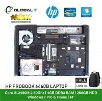 (Refurbished Notebook) HP Probook 6460B Laptop / 14 inch LCD / Intel Core i5-2450M / 4GB Ram / 250GB HDD / WiFi / Windows 7