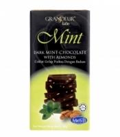 GRANDEUR DARK MINT CHOCOLATE BAR WITH ALMONDS 45g