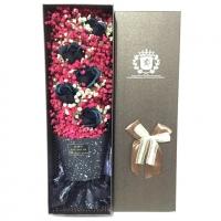 Black Rose with Gypsophila Flower