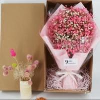 Gypsophila Flower Gift Box Pink