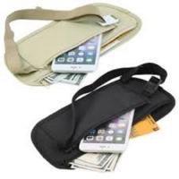 Waist Belt Bag Slim Travel Pouch Hidden Passport Money H/P Purse 腰包 户外贴身防水隐形防盗旅行证件手机超薄运动包
