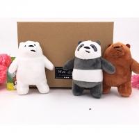 We bare bears plush keychain