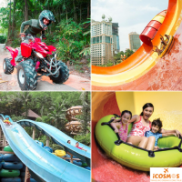 FAMILY HOLIDAY PACKAGE SUNWAY LAGOON THEME PARK - 2 ADULTS + 2 CHILDREN TICKETS - AMAZING DEAL