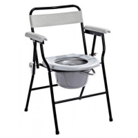Epoxy Foldable Commode Chair