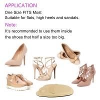 Women High Heel Sponge Forefoot Shoe Pad AntiSlip Insole Foot Protection Comfort Black