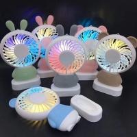 2018 USB LED Rechargeable Rabbit Design Mini Handheld Fan