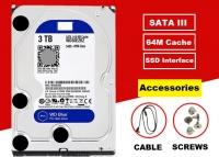 """WD CAVIAR BLUE HARD DRIVE 1TB/ 2TB/ 3TB/ 4TB/ 6TB/ 8TB/ 10TB 3.5"""" CCTV SATA HDD WD30EZRZ INTERNAL HARD DISK 5400 RPM 6 Gb/S 64MB CACHE FOR ALL WEBCAM AND DESK TOP PC"""