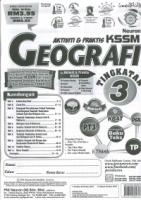 AKTIVITI&PRAKTIS GEOGRAFI TINGKATAN 3 KSSM