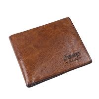JEEP Men PU Bifold Slim Wallet