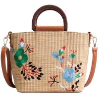 Summer New Tide fashion hundred embroidered straw handbag large capacity single shoulder crossbody bag female bag