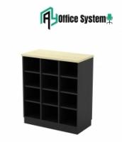 2 Tones Series Pigeon Hole Door Low Cabinet (80cm x 40cm x 91cm)