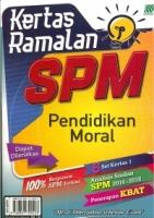 KERTAS RAMALAN PENDIDIKAN MORAL SPM 2019