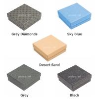 Bracelet Gift Box - Grey Diamonds Pattern