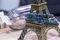 100 % Natural Tourmaline Blue Bead Bracelet 蓝碧璽手串 5 mm jewelry accessories