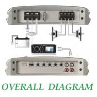 Fusion MS-AM402 Class AB 400W 2 Channel Marine bridgeable high power Amplifier.