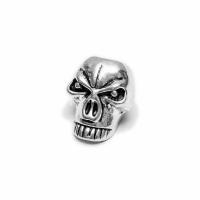 5 mm Silver Skull Bead