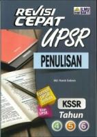 REVISI CEPAT PENULISAN TAHUN 4,5,6 KSSR UPSR 2019