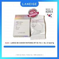 LANEIGE BB CUSHION WHITENING SPF 50+ PA+++ No. 23 Sand 5g - 100% Original