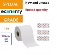 1 pack 10 roll B grade Tissue toilet bathroom paper roll