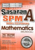 SASARAN A KERTAS MODEL TEST PAPERS MATHEMATICS(BILINGUAL)SPM 2019