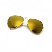 NEVER HIDE SUNGLASSES / GENERAL POLISHED GOLD/FLASH GOLD GLASS UV400 NH93901/93