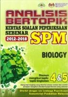 ANALISIS BERTOPIK KERTAS SOALAN PEPERIKSAAN SEBENAR 2012-2018 BIOLOGY SPM 2019