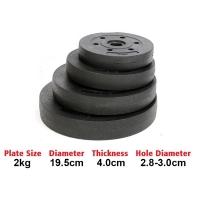 2kg High Grade Bumper Dumbbell Weight Plate Barbell Plates