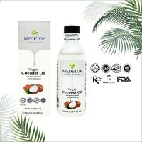 MEDETOP Virgin Coconut Oil, Cold Pressed, Halal100ml (3.38 US fl oz)