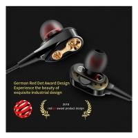 High-quality Double trumpet HiFi Bass Sport in Ear style Earphones