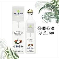 MEDETOP Virgin Coconut Oil, Cold Pressed, Halal 500ml (16.9 US fl oz)