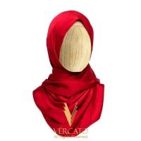 VERCATO Premium Eyelash Luxe Satin Shawl in Maroon