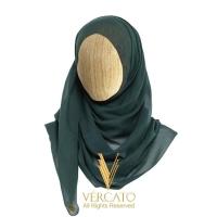 VERCATO Premium Eyelash Luxe Satin Shawl in Emerald