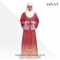 Ardell Aryana Ana B SUMAIYAH LACE-Peach SU-PE / Korean Koshibo & French Lace / Abaya / jubah /