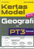(ALAF SANJUNG)KERTAS MODEL GEOGRAFI PT3 2019