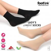 Footlink Lady's Comfort Socks - Black Color