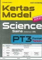 (ALAF SANJUNG)KERTAS MODEL SCIENCE/SAINS(DWIBAHASA)PT3 2019
