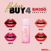 [ ORIGINAL ] 4 WARNA BIbiaq by Bellaz (1 Gedik & 1 Lawah Eh & 1 Kelolo & 1 Cun) with free CUCI / Lip Stick / Lip Matte