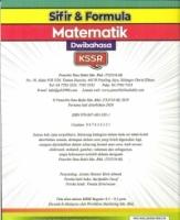 (PENERBI ILMU BAKTI)SIFIR&FORMULA MATEMATIK(DWIBAHASA)KSSR 2020