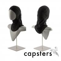 Capsters Football Sports Hijab (Black)