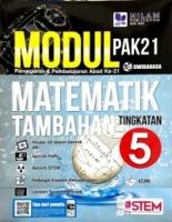 Modul Pengajaran & Pembelajaran Abad Ke-21 Matematik Tambahan Tingkatan 5 (2019)