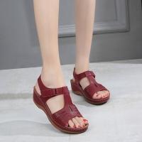 BNC Wedges Sandal - Maroon - 901-05679